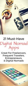 These 21 digital nomad apps are must-have tools for any remote worker, entrepreneur, expat, or work-from-homer and help you with being more successful.