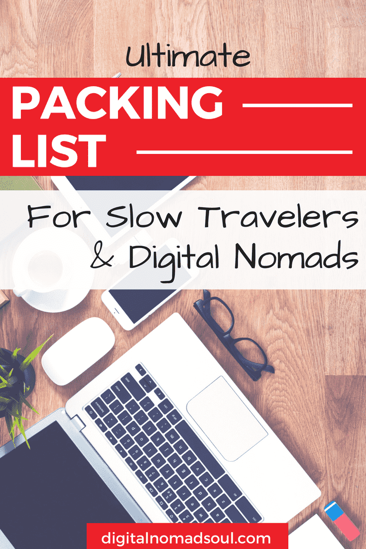 Pin for Digital Nomad Packing List