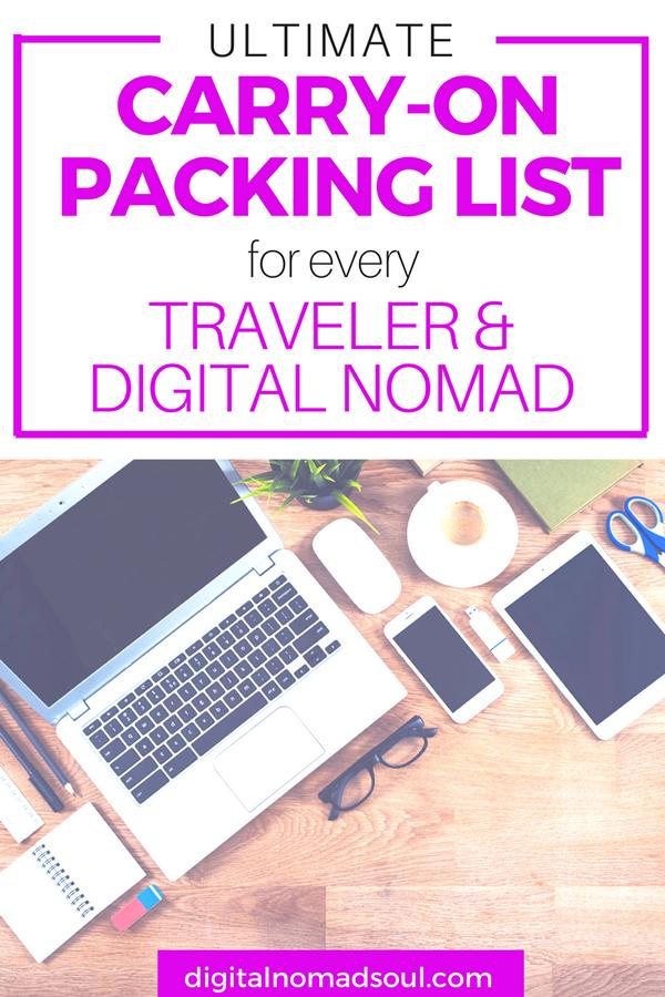 Carry-On Packing List, Hand Luggage, Cabin Bag, Digital Nomad, Remote Work, Online Job, Long-Term Travel, Travel Tips, Travel Hacks, Beginner, Backpacker 4