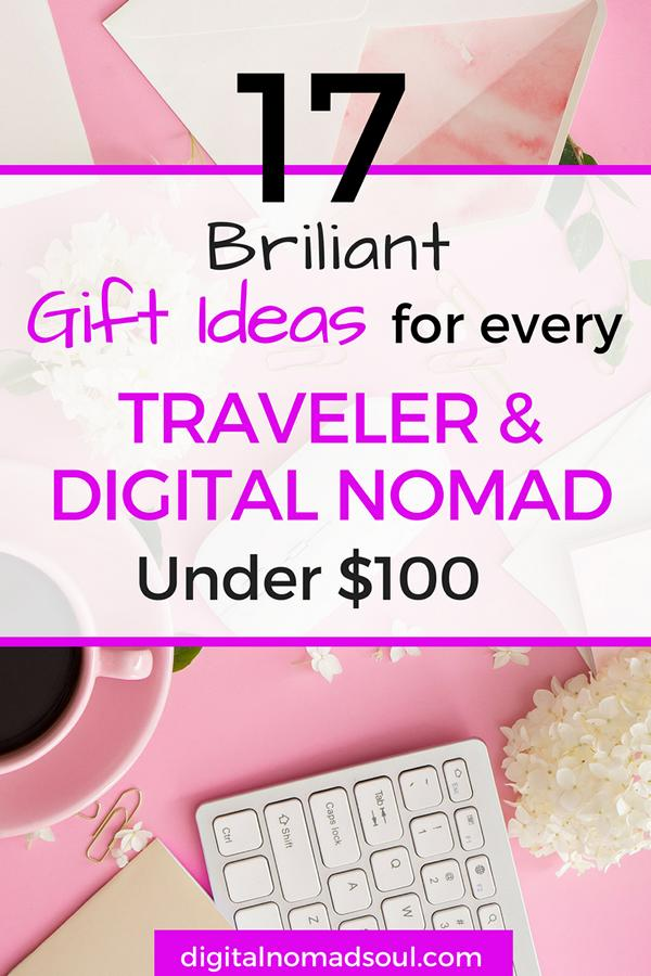 Best gift ideas for digital nomads and travelers - Pinterest Pin
