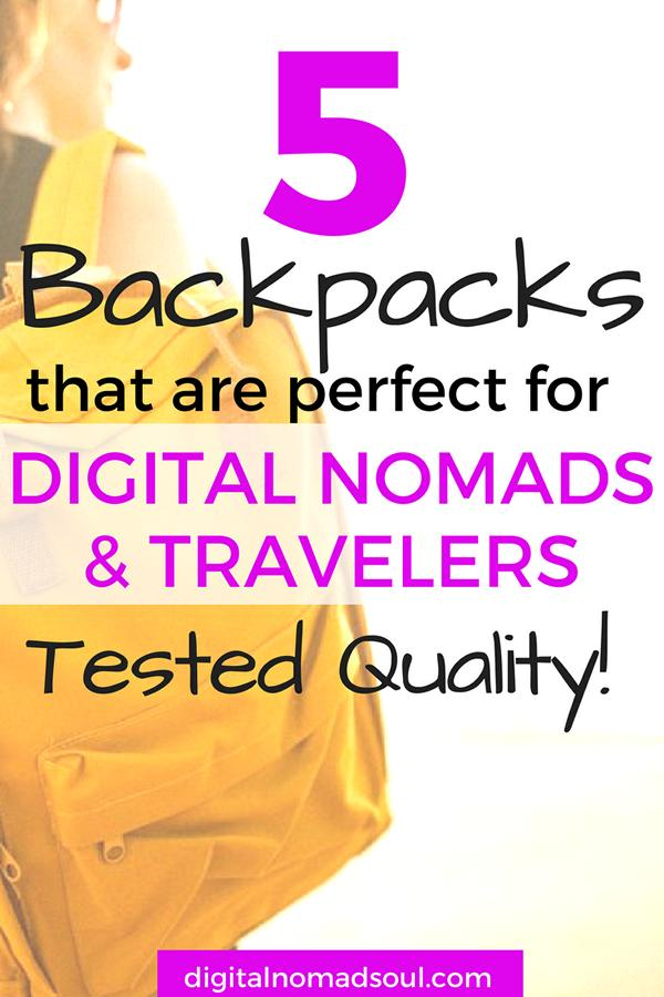 Best Digital Nomad Backpacks, Top luggage for nomads, Carry-On backpacks,