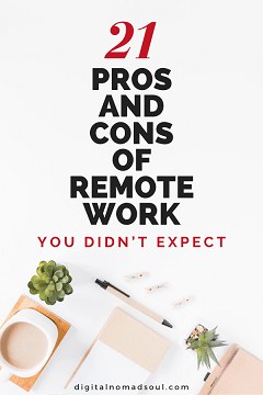 Pin - Work from Home Pros and Cons