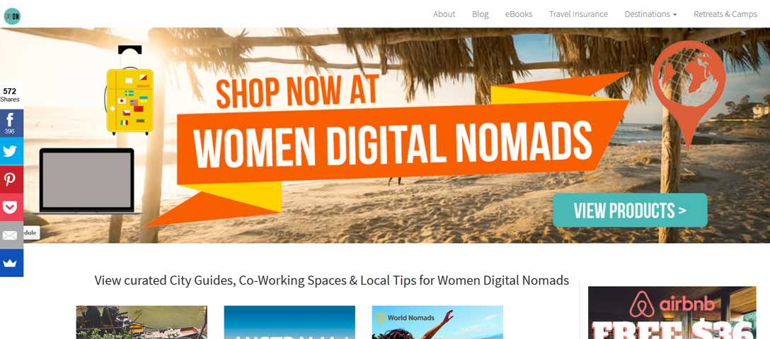 Female Digital Nomad Blogs - Women Digital Nomad