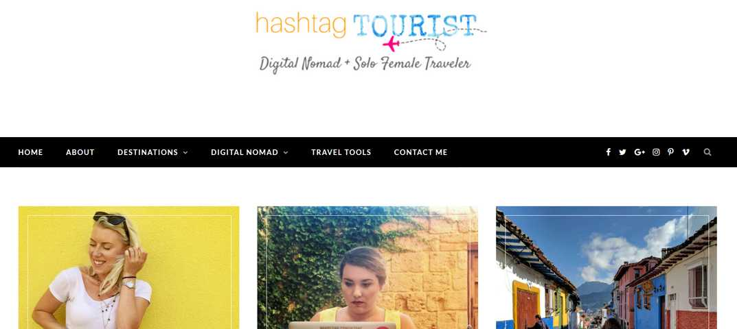 Female Digital Nomad Blogs - Hashtag Tourist