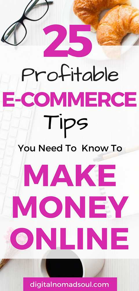 E-Commerce Tips for Online Stores to Make Money from Home