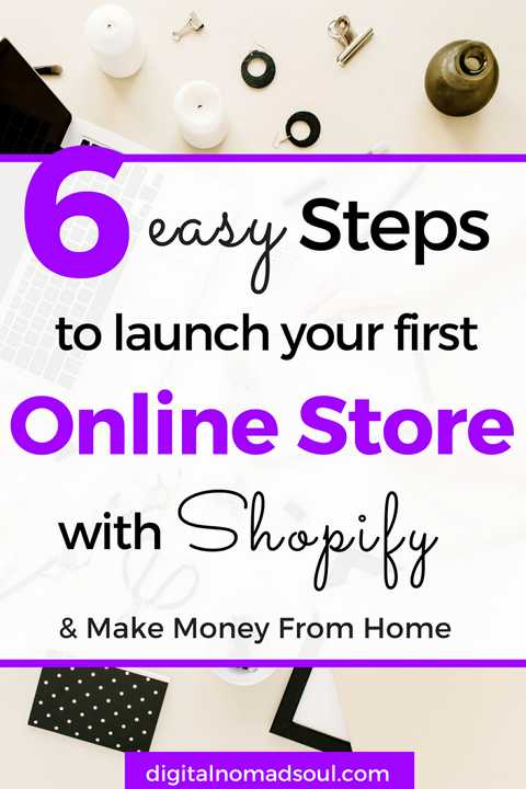 6 easy steps to launch your first online store