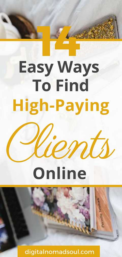 Find High-Paying Clients Online