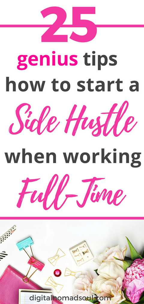 Start a side hustle when having a full-time job