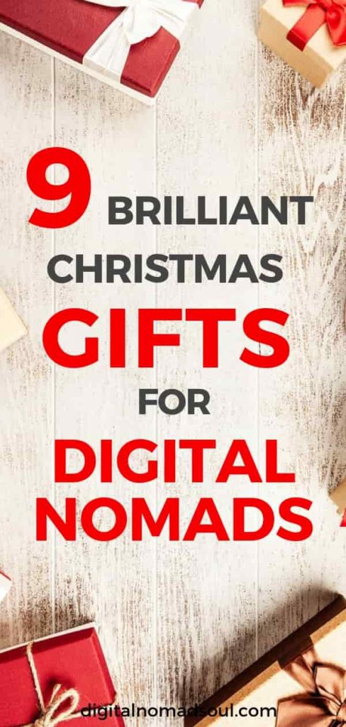 Christmas gifts for digital nomads, gift ideas for travelers, presents for travelers and entrepreneurs, cheap gifts, Christmas presents