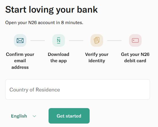 N26 Registration process