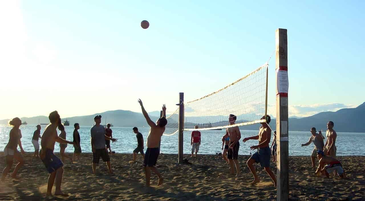 Stay fit while traveling as a digital nomad, beach volleyball