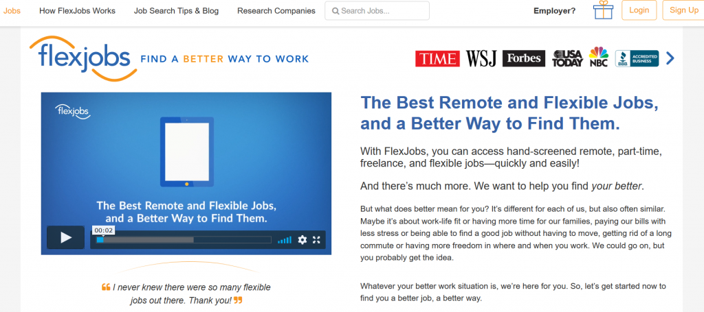 Can you find remote jobs with FlexJobs?