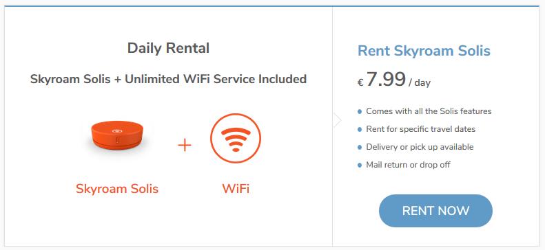 How to rent Skyroam Solis