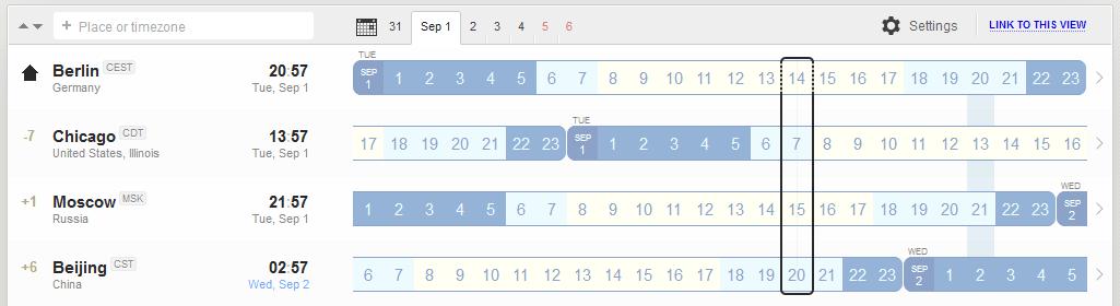Screenshot World Time Buddy
