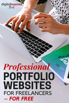 Pin - Professional Portfolio Websites for Freelancers